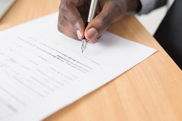 Signing an employment contract